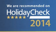 We are recommended on HolidayCheck